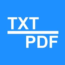 Text2PDF - TXT, text to PDF