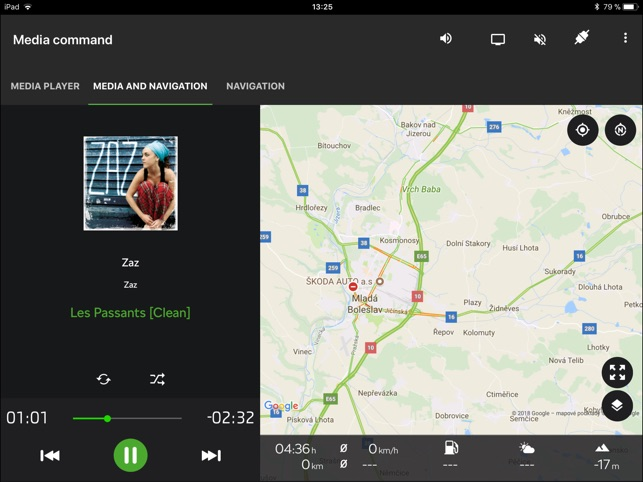 Škoda Media Command Screenshot