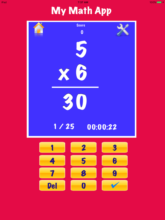My Math Flash Cards App screenshot