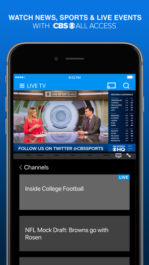 how to watch cbs live on iphone