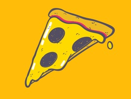 Get some fun stickers inspired by pizza that got no bone in it