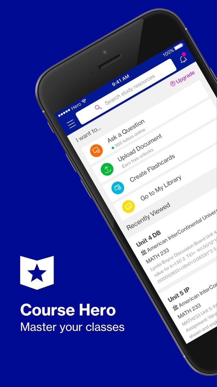 Course Hero | Homework Help Screenshot