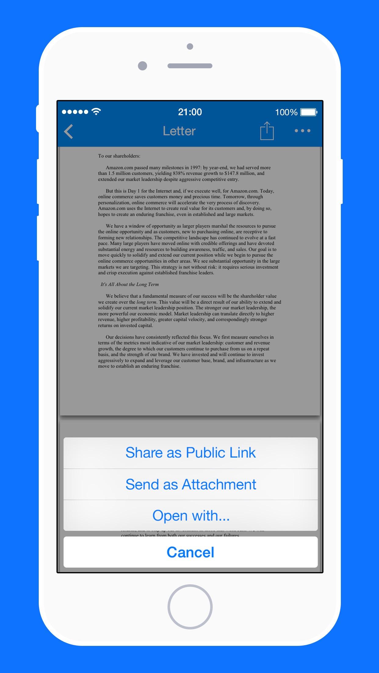 Screenshot do app Amazon Drive