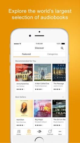 Audible audiobooks & originals screenshot for iPhone