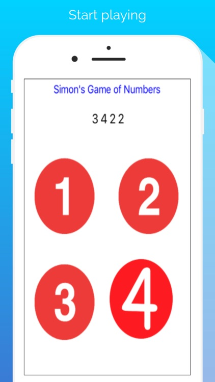 Simon's Game of Numbers