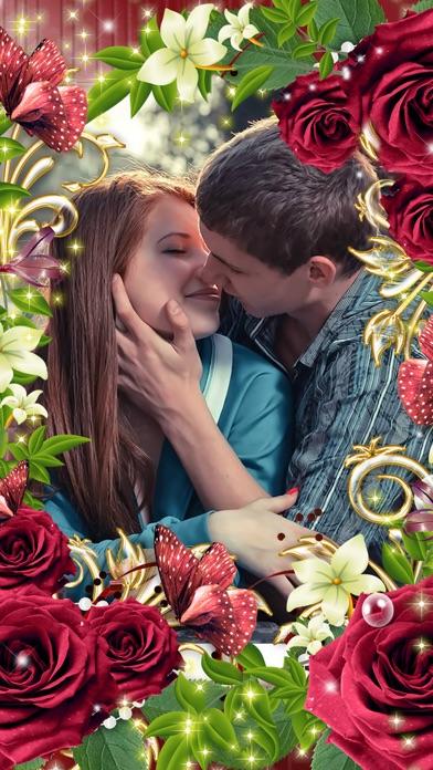 Romantic Love Photo Frame screenshot one