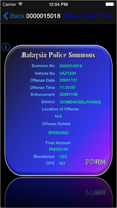 Malaysia Police Summons screenshot three