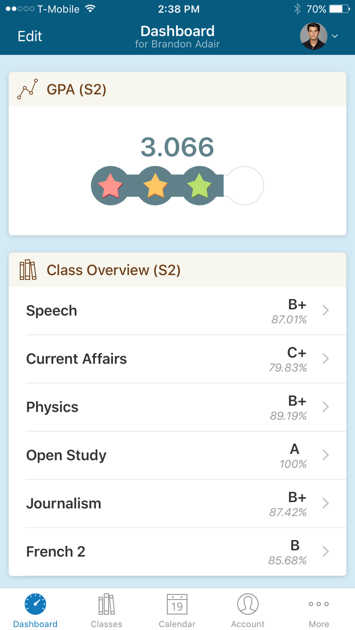 PowerSchool Mobile Screenshot
