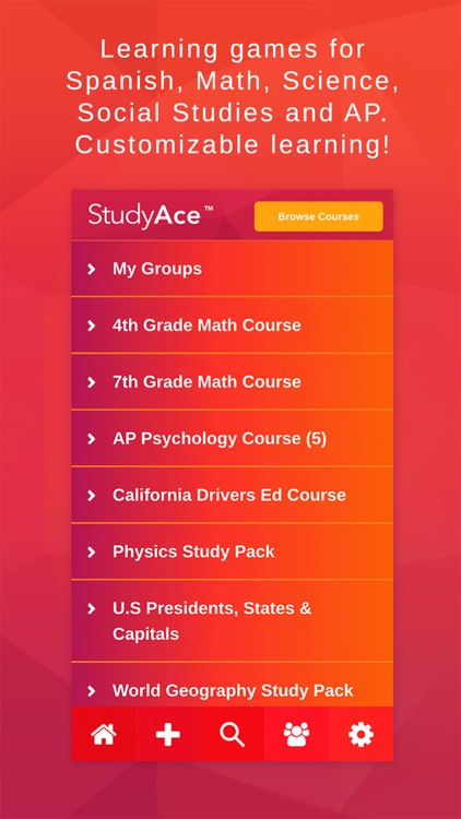 StudyAce Learning Games