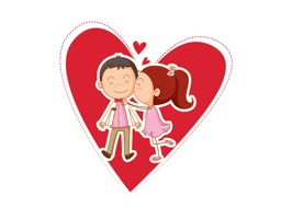 Couple Love Bird Stickers
