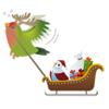 Lovley Birds in Winter Sticker