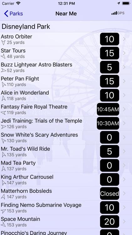 Wait Times at Disneyland screenshot-3