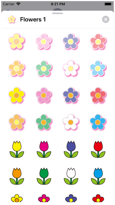 Flowers 1 Stickers Screenshot