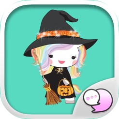 Unicorn Halloween Stickers 4+
