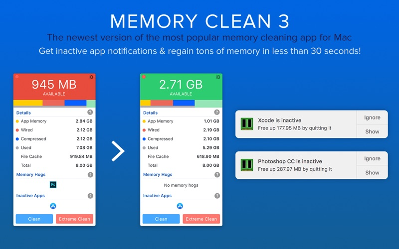 Memory Clean 3: Free Up Memory Screenshots