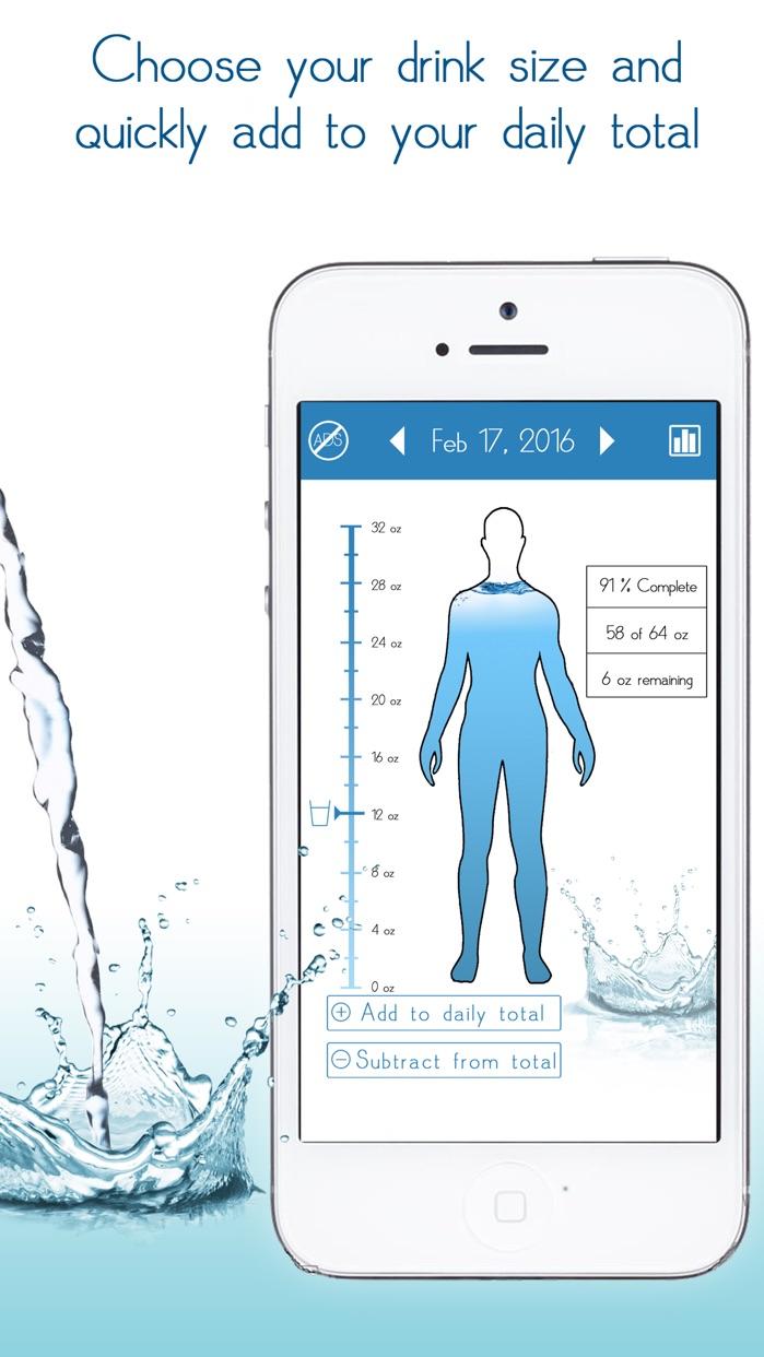Daily Water Tracker Reminder Screenshot