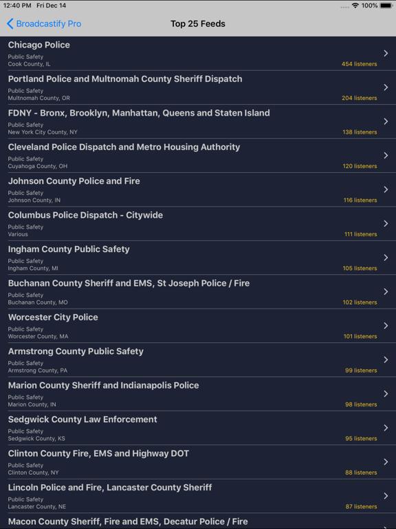 iPad Image of Broadcastify
