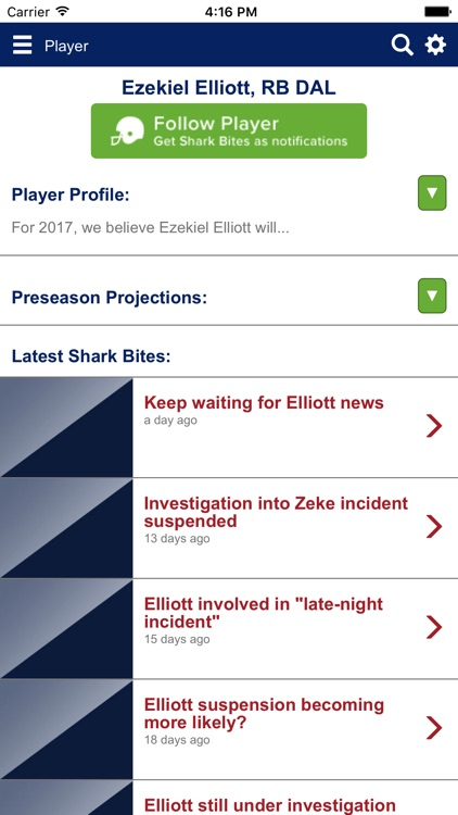 The Draft Sharks App