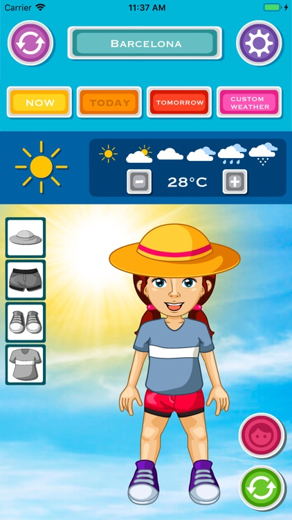 Kids Weather & What to Wear screenshot-0