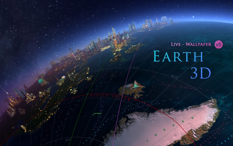 Screenshot #1 for Earth 3D