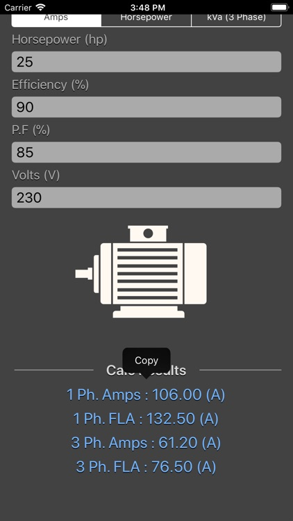 Electrical Motor Calculator