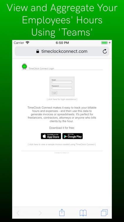 timeclock connect track hours by spotlight six software llc