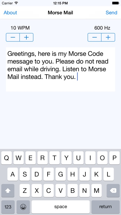 Morse Email