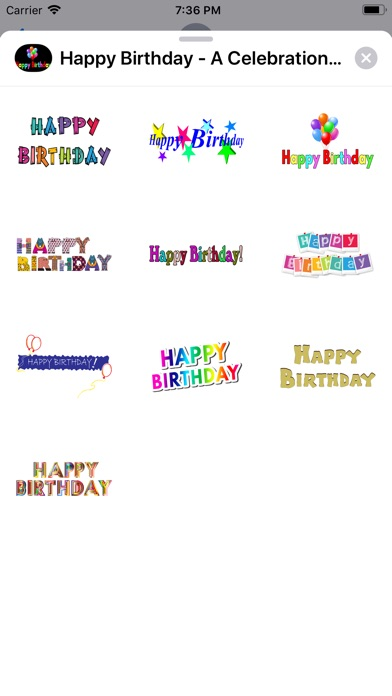 Screenshot for Happy Birthday - A Celebration in United States App Store