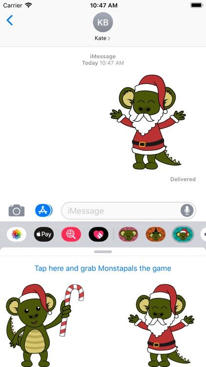 Monstapals Stickers Christmas screenshot-3