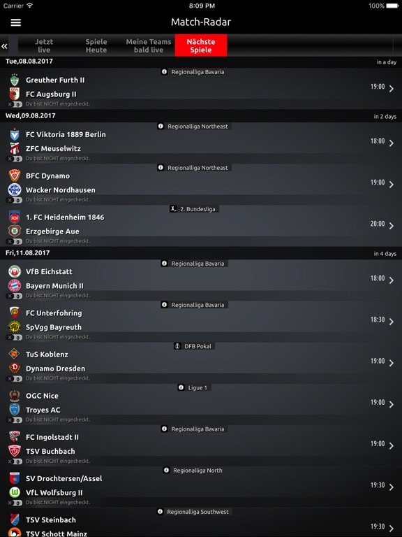 Fantomic - Fussball Liveticker-ipad-1