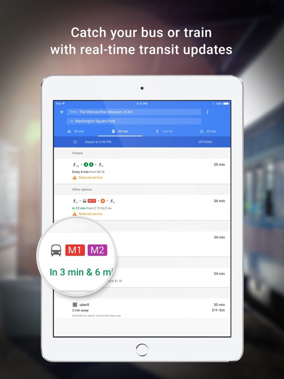Screenshot #2 for Google Maps - Transit & Food