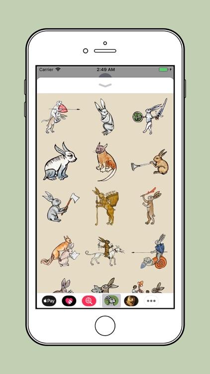 Medieval Rabbit Stickers screenshot-4