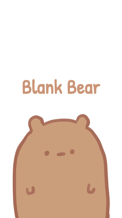 Blank Bear Stickers screenshot-0