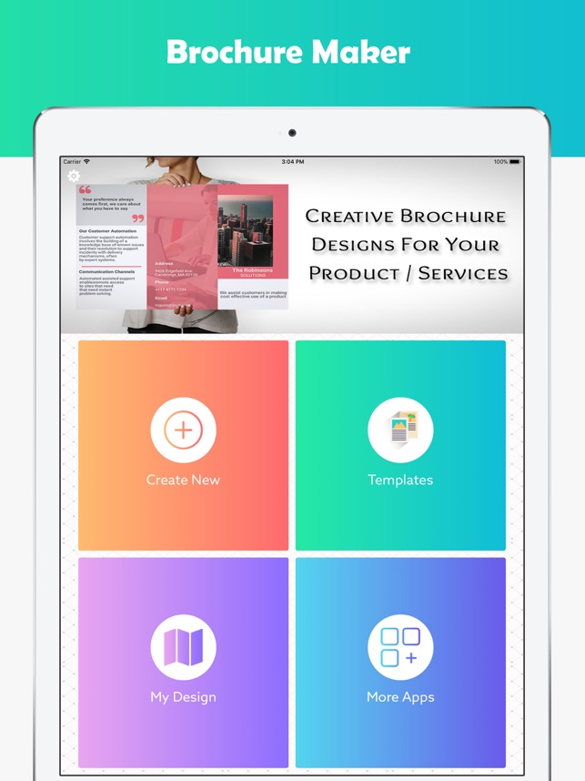 brochure maker graphic design on the app store
