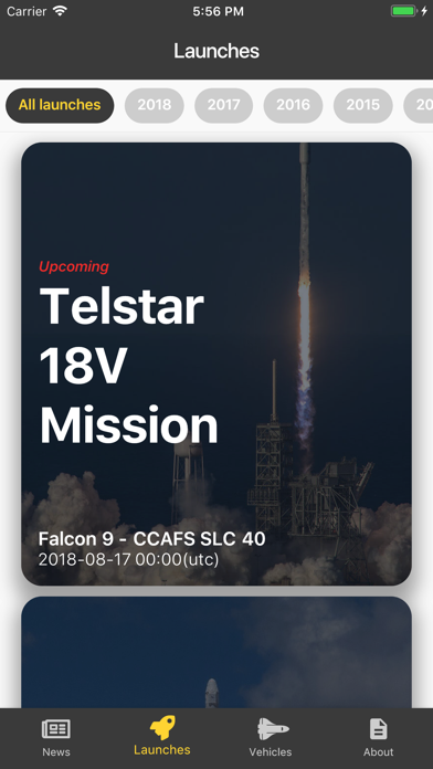 SpaceXNews - News and launches screenshot one