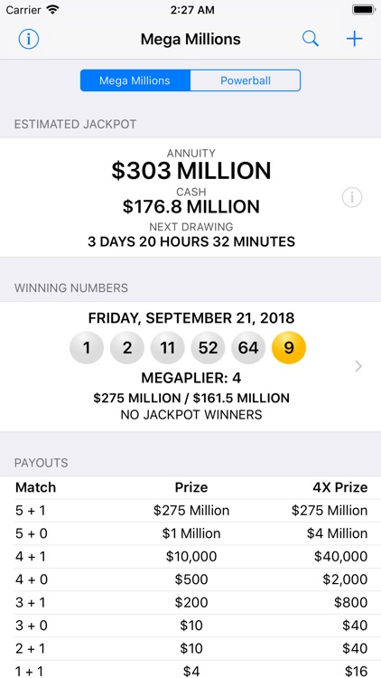 Mega Millions + Powerball screenshot-0