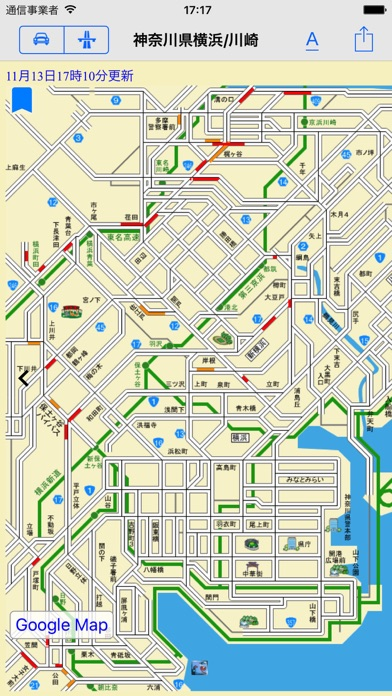 Japan Road Traffic Info Viewer Скриншоты5