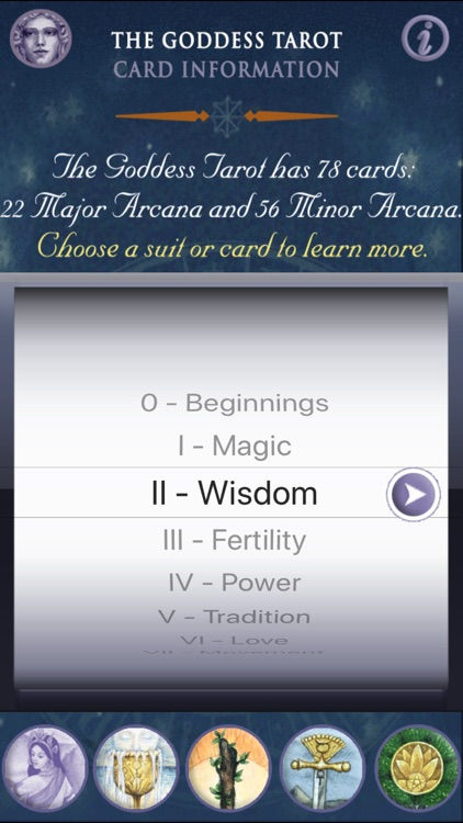 Goddess Tarot - Lite version screenshot-3