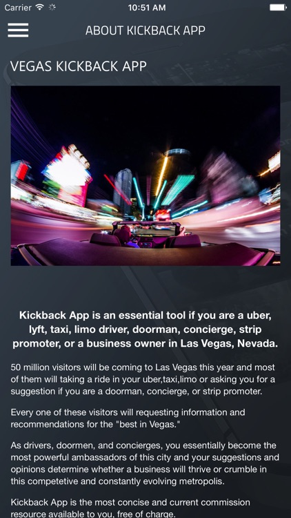VEGAS KICKBACK APP screenshot-2