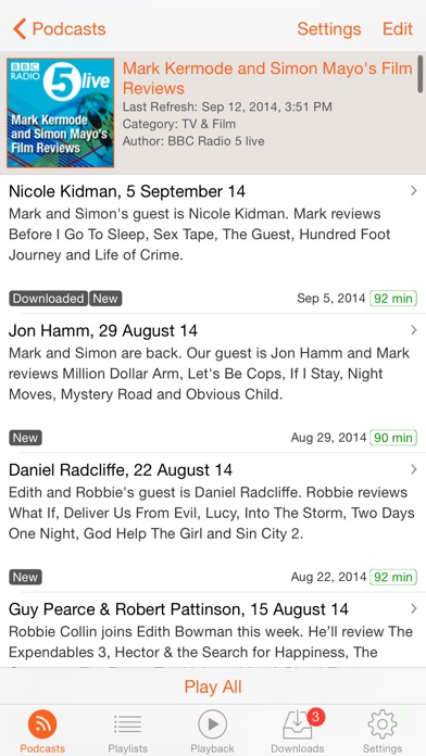 Rssradio (premium) review screenshots