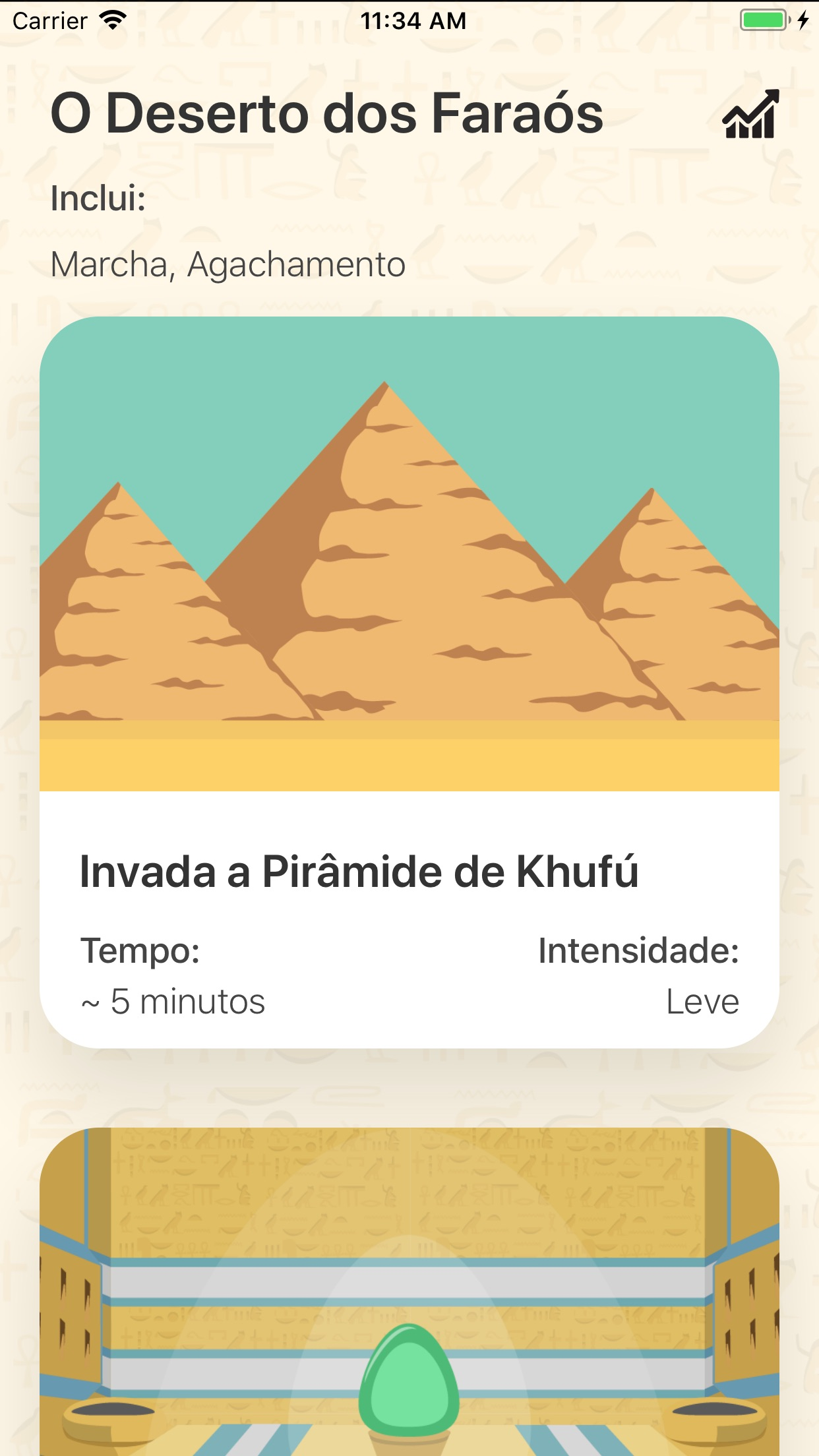 Screenshot do app Fisio Adventure