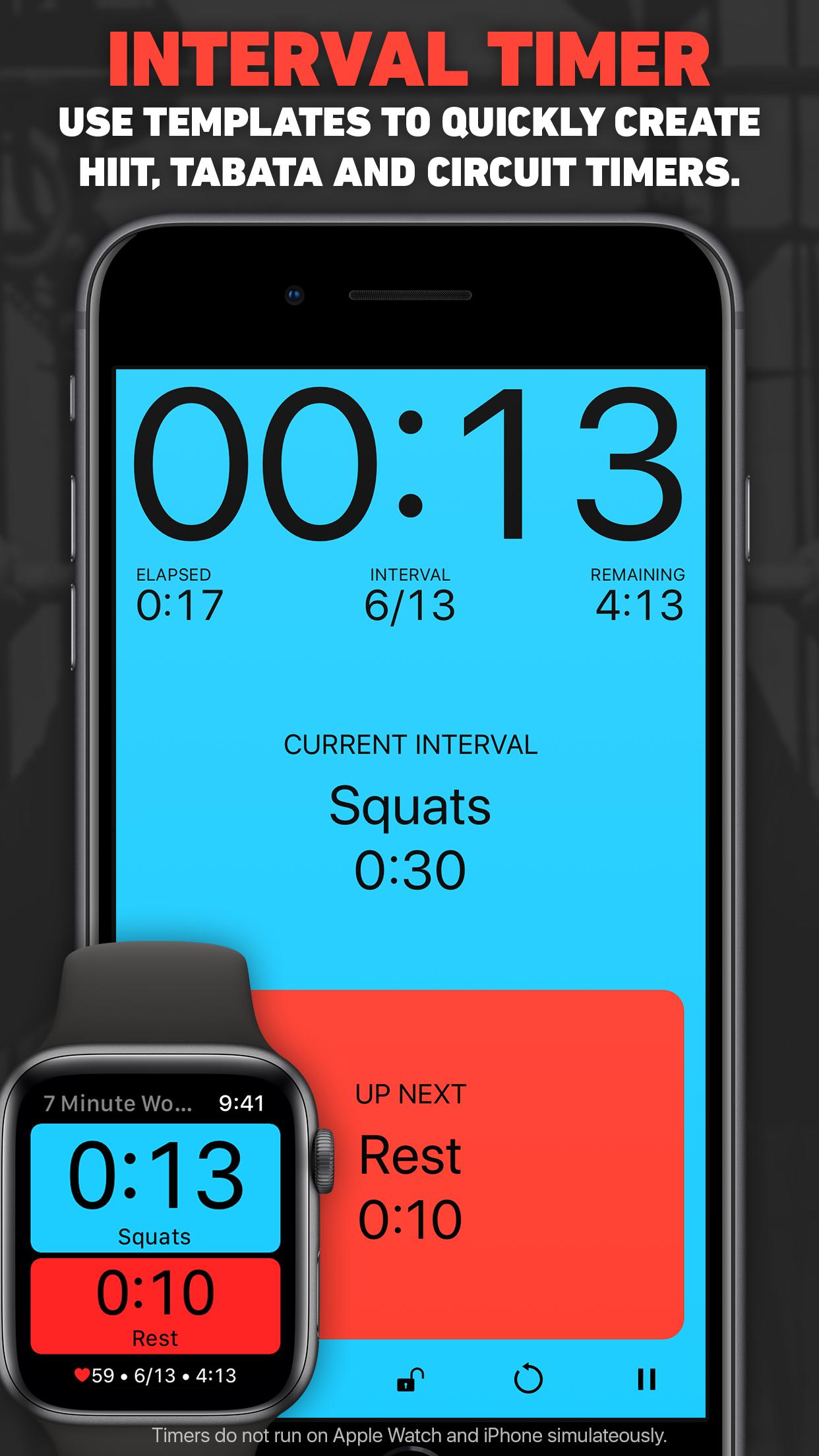 Seconds Interval Timer HIIT Screenshot