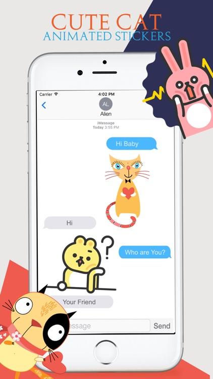 Animated Cats Moji screenshot-3