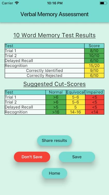 Verbal Memory Assessment screenshot-4