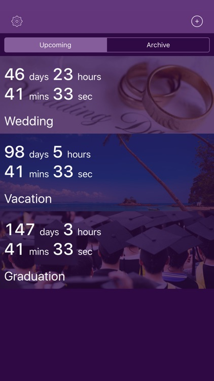 UpNext: Personal Countdowns screenshot-0