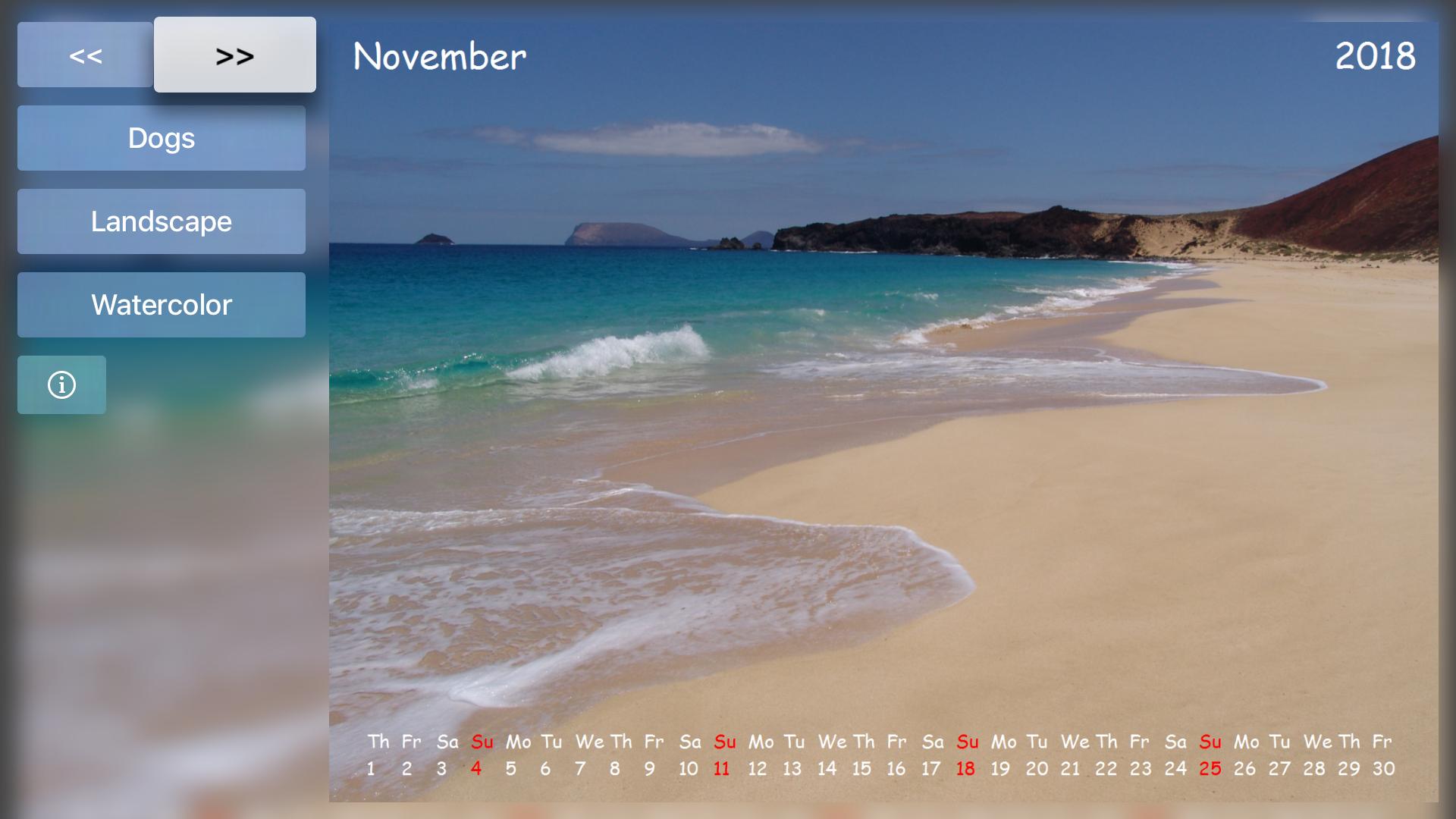 Calendar for TV screenshot 5