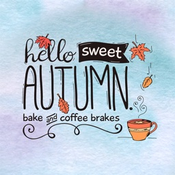 Autumn Love - Coffee & Flower & Quotes