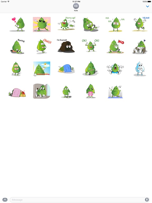 Animated Green Pear Stickers screenshot 3