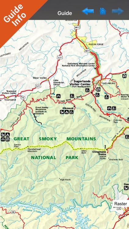 Great Smoky Mountains National Park GPS map screenshot-3