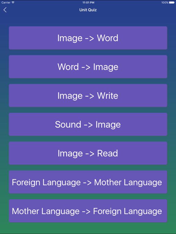 Korean Word Flashcards Learn Screenshots